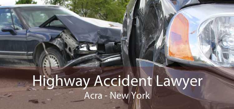 Highway Accident Lawyer Acra - New York